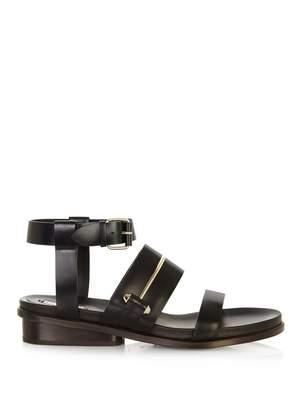 Balenciaga Pierce double-strap leather sandals