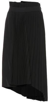 Balenciaga Asymmetric pleated midi skirt