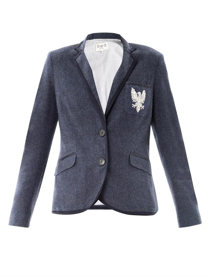 Sea Gryphon pocket wool blazer