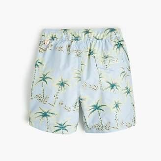 J.Crew Boys' swim trunk in palm print