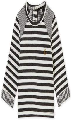 Petit Bateau Grey/white Striped Shirt
