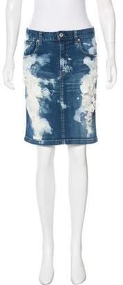 Junya Watanabe Distressed Denim Skirt