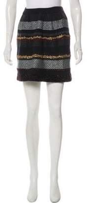 Tory Burch Merino Wool Knit Mini Skirt