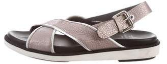 Aquatalia Leather Slingback Sandals