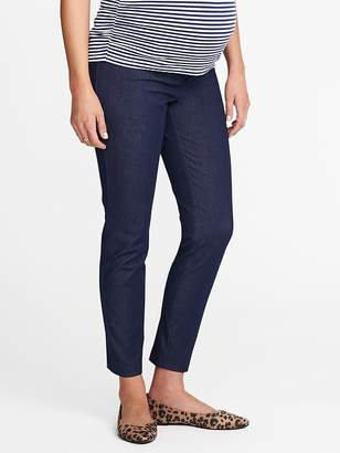 Old Navy Maternity Side-Panel Denim-Look Pixie Pants