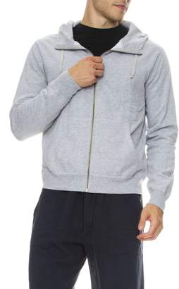 Save Khaki Fleece Heather Zip Up Hoodie