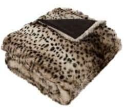 Safavieh Faux Leopardis Fur Throw