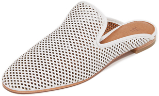 Frye Gwen Perforated Mules $198 thestylecure.com
