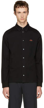 Paul Smith Black Flower Badge Polo Shirt