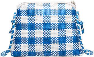 Loeffler Randall Mallory Woven Check Leather Crossbody Bag