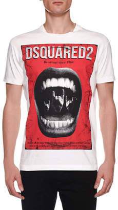 DSQUARED2 Men's Mouth Print Rocker T-Shirt
