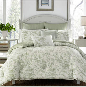 Laura Ashley Full/Queen Natalie Pastel Green Comforter Set Bedding