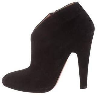 Alaia Round-Toe Ankle Boots
