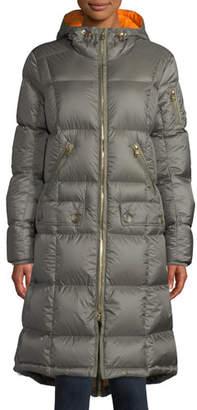 Bogner Sport Malen Long A-Line Puffer Coat w/ Hood