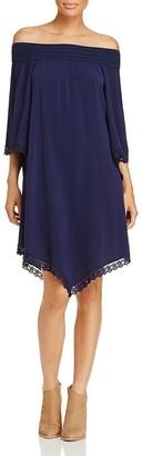 Design History Smocked Off-The-Shoulder Dress $98 thestylecure.com