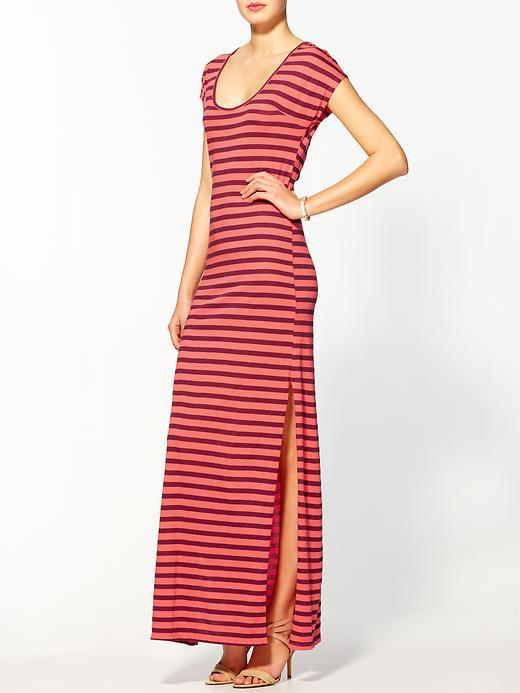 Monrow French Stripe Scoop Maxi Dress
