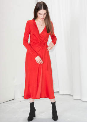 And other stories O-Ring Belted Midi Dress