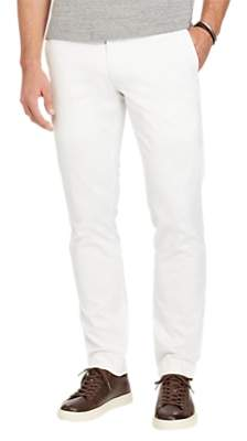 Ralph Lauren Polo Hudson Slim Fit Stretch Cotton Trousers, White