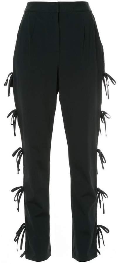 side tie detail trousers