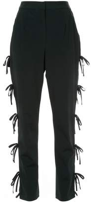 Self-Portrait side tie detail trousers