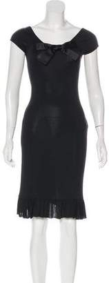 Blumarine Lace-Paneled Knee-Length Dress
