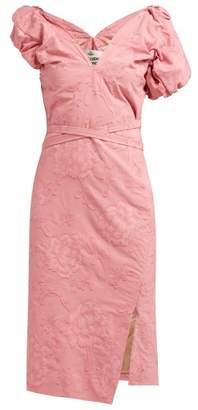 Vivienne Westwood Gabriella Asymmetric Floral Fil Coupe Dress - Womens - Pink