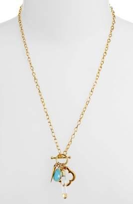 Elise M. Flapper Multi Charm Necklace