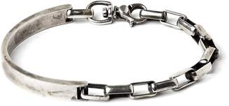 title of work Side Cuff to Box Chain Bracelet