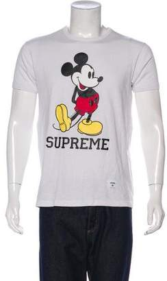 Supreme x Mickey Mouse Graphic Print T-Shirt