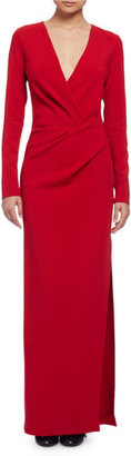 Lanvin Long-Sleeve Column Gown, Red $610 thestylecure.com