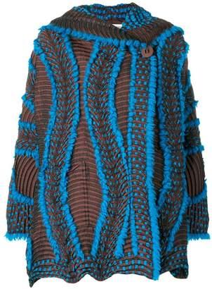 Issey Miyake wave textured jacket