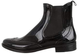 Barneys New York Barney's New York Rubber Round-Toe Ankle Boots