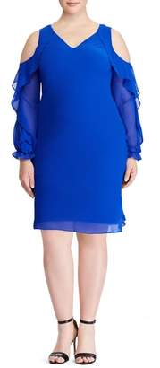 Lauren Ralph Lauren Paiva Cold Shoulder Minidress