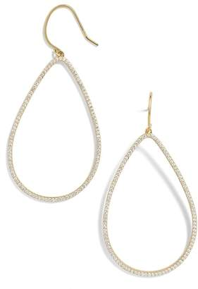 BaubleBar Everyday Fine Fishhook Crystal Teardrop Earrings