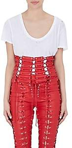 Taverniti So Ben Unravel Project BEN UNRAVEL PROJECT WOMEN'S LACE-UP LEATHER CORSET - RED SIZE L XL