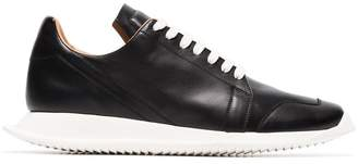 Rick Owens black Oblique leather sneakers