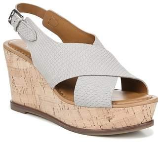 8d72b459bea Franco Sarto Blue Wedge Women's Sandals - ShopStyle