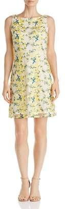 Adrianna Papell Floral Embroidered Dress