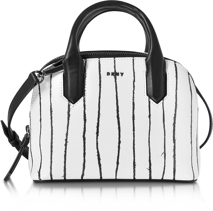 DKNY Twine Stripe Leather Mini Satchel Bag