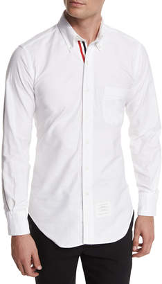 Thom Browne Long-Sleeve Cotton Oxford Shirt