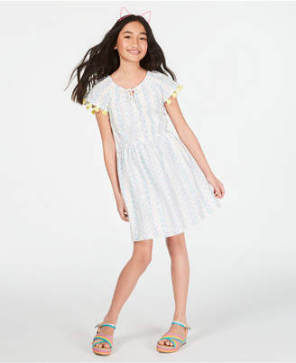 Epic Threads Little Girls Cotton Tassel-Trim Peasant Dress