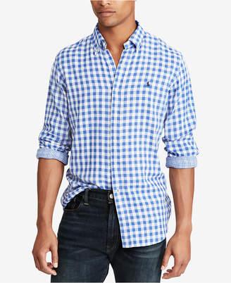 Polo Ralph Lauren Men Classic Fit Double-Faced Gingham Shirt