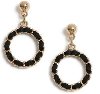 95c72abd5 Dorothy Perkins Womens Black Fabric Chain Earrings