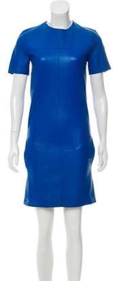 Celine Leather Shift Dress