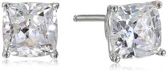 Swarovski Amazon Collection Sterling Silver Cushion-Cut Zirconia Stud Earrings (2 cttw)