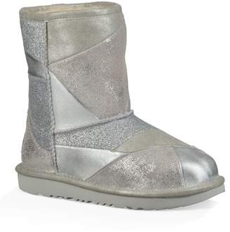 UGG Classic Short II Metallic Patchwork Boot (Little Kid & Big Kid)