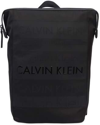 Calvin Klein Logo Printed Nylon Backpack
