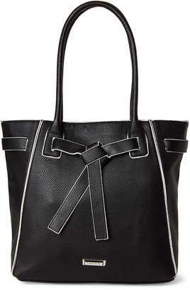 Tahari Black Wrapped Up Tote