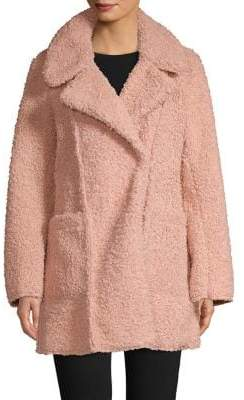 Kenneth Cole New York Faux Shearling Notch Lapel Coat