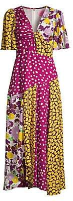 Kate Spade Women's Swing Floral Patchwork Maxi Dress - Size 0